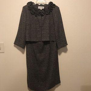 Danny & Nicole Black White 2 Pc Dress Set Size 10